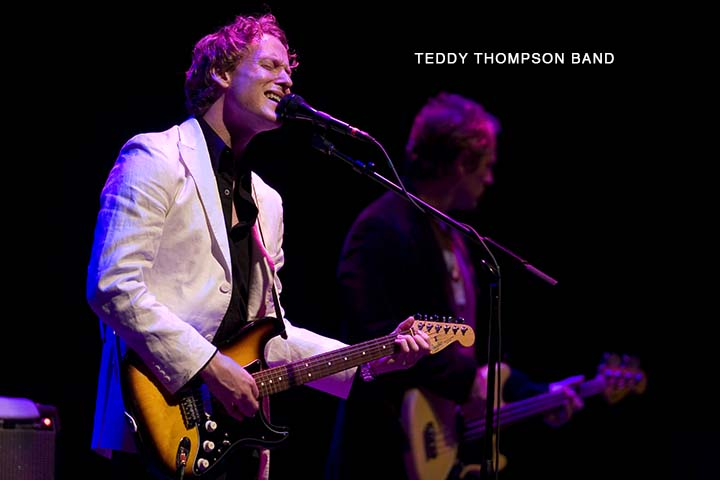 IN CONCERT: Teddy Thompson broods with a happy face